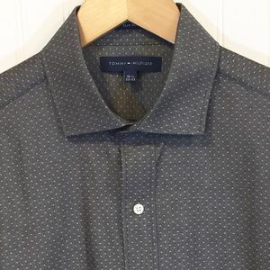 TOMMY HILFIGER Gray Dress Shirt 15.5 32/33 | NWT